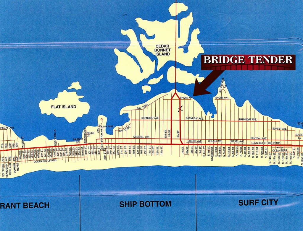 Bridge Tender LBI Map